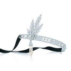 Anyone have a spare $200,000 to fork over so I can wear this at my wedding?  In love....The Great Gatsby Collection headpiece in platinum with diamonds and pearls.
