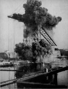 Destruction of the Transporter Bridge (January - Life On Mars, Education Architecture, Wedding Humor, France Travel, Destruction, Vintage Travel, Provence, Vintage Photos, Art Quotes