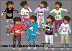 BABEL SIMS: TS 4 Fashion: Hello Kitty Sweater And Pants by Hop...