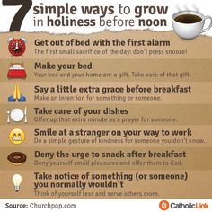 Catholic-Link's Library - Infographic: 7 simple ways to grow in holiness...