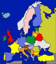 Mapa interactivo de Europa Pases de Europa Puzzle  Mapas Flash