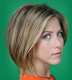 Jennifer Aniston hair. Watching Friends and really wanting to cut my hair this short