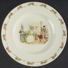 "Salad Plate in the Bunnykins (albion Shape) pattern by Royal Doulton China ""School Dinner"""