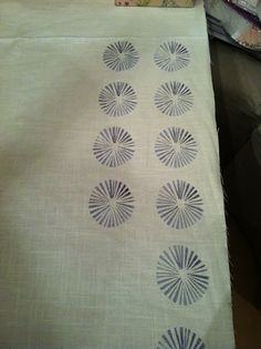 Tablecloths: Potato Block Printing DIY using dye