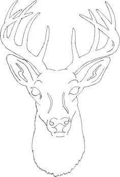 free deer head patterns | Scroll Saw Patterns > Medium Patterns > Deer Silhouette