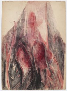 Berlinde De Bruyckere - The Wound, 2011 - Watercolour and pencil on paper - 44.5 x 32 cm