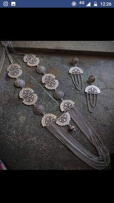 Antic Jewellery, Thread Jewellery, Oxidised Jewellery, Fabric Jewelry, Statement Jewelry, Pearl Jewelry, Jewelery, Silver Jewelry, Jewelry Crafts