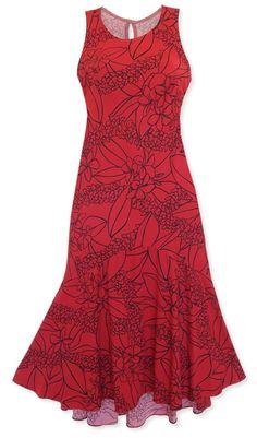 e4bec9210c2 kula red lehua hawaiian dress   Lavahut