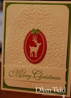 Sparkly & Bright by - Cards and Paper Crafts at Splitcoaststampers Diy Christmas Cards, Stampin Up Christmas, Christmas 2014, Xmas, Holiday, Christmas Ideas, Joyous Celebration, Embossing Folder, Cute Cards