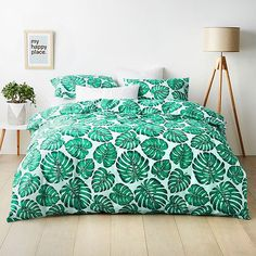 Hot House Palm Quilt Cover Set