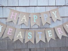 Ready to Ship Easter Decor Happy Easter by IchabodsImagination