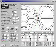 Badog Gear designer allows you to easily add standard or custom gears to your CNC project. The gear models created are standard DXF models that can be added to your assembly drawing or 2D entities. You can also automatically import into the Badog Software and cut yourself the gears you made. It is like having a virtual gear factory on your computer that can create real and precice spur gears from your data input.You just select the pitch, pressure angle, number of teeth, width, and insertion poi