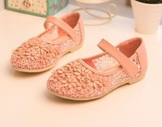 2015 Summer Spring Girls Lace Floral Princess Shoes Children Shoes S0377