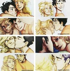 <<< It's actually Percabeth, but whatever. Omgs they are so cute Percy Jackson Annabeth Chase, Percy Jackson Ships, Percy Jackson Fan Art, Percy And Annabeth, Percy Jackson Memes, Percy Jackson Books, Percy Jackson Fandom, Percabeth, Rick Riordan Series