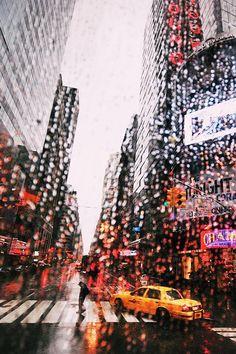 c1tylight5:  NY rain | Vincenzo De Palo