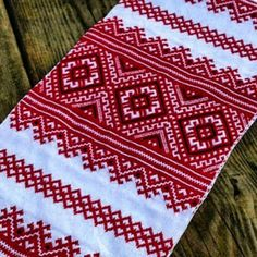 Traditional Ukrainian embroidered towel rushnyk. Mothers day gift idea
