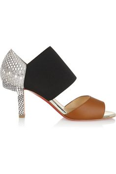CHRISTIAN LOUBOUTIN Paulaklee 70 Python And Leather Sandals. #christianlouboutin #shoes #sandals