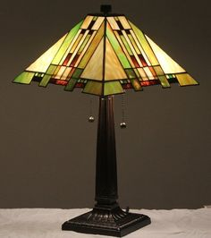 "Save $ 10 order now Tiffany Style Stained Glass Table Lamp ""Aspen Mission&"