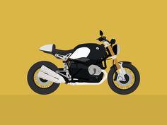 BMW R NINET • Poster by Mourad Moutawakkil