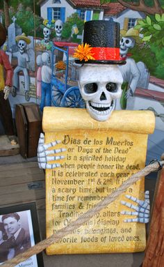 DIA de los MUERTOS... This skeleton could also be cool as a Halloween decoration.