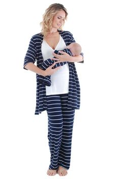 Everly Grey Roxanne 5 PC Mom & Baby Maternity Nursing Pajama | Nursing Apparel  www.duematernity.com