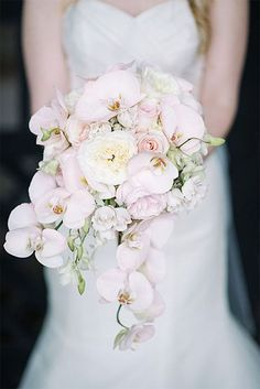 Soft Pink Wedding Bouquets To Fall In Love With ★ pink wedding bouquets white orchids sean money elizabeth fay photography Spring Wedding Flowers, Bridal Flowers, Floral Wedding, Wedding Day, Spring Weddings, Gift Wedding, Purple Wedding, Wedding Ceremony, Dream Wedding