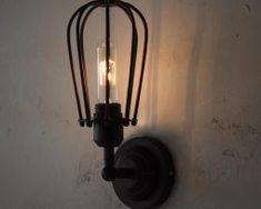 Industrial Loft lighting - rustic industrial for the warehouse, loft Chandelier Fan, Wooden Chandelier, Vintage Chandelier, Black Wall Sconce, Rustic Wall Sconces, Candle Sconces, Loft Lighting, Wall Sconce Lighting, Lighting Ideas