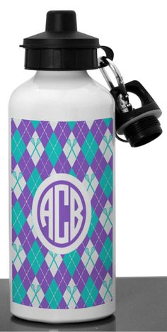 Customize this preppy water bottle with your unique monogrammed initials! It makes a great personal lacrosse gift for any girls lacrosse player.