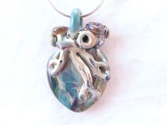 I love you Large Anatomical Heart blue wearable art
