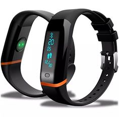 YoungFun Slim Activity Fitness Tracker Bracelet, Water Resistant HR Pedemetor Smart Wristband Compatible with Android and IOS * To view further for this item, visit the image link.