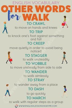 English Verbs for Moving. Other words to say walk.English Verbs for Moving. Other words to say walk. Learn English Grammar, English Writing Skills, English Vocabulary Words, Learn English Words, English Idioms, English Phrases, English Language Learning, English Lessons, Teaching English