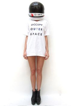 """Occupy outer space"" tee"