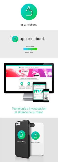 HOY ES EL DÍA : Diseño de identidad corporativa y comunicación para AppAndAbout #diseño #design #brand #app #marca