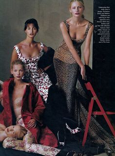 US Vogue July 1996 Fashion's New Establishment Ph: Steven Meisel / Annie Leibovitz