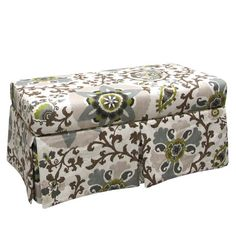 This Coaster Floral Fabric Storage Bench 500078 Is Perfect For Use As A  Storage Ottoman Or Storage Bench. With The Benchu0027s Taller Legs There Is Roou2026