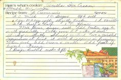 moms recipe cards - Google Search