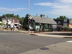 Park Ridge, NJ train station. Part of the Pascack Valley Line of NJ Transit.