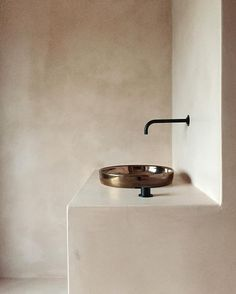 plaster bathroom counter and walls