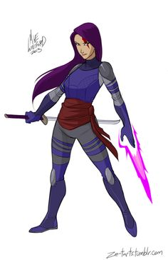And the X-Mens Psylocke looking super badass. | What Would Fully-Clothed Female Superheroes LookLike?