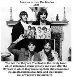 "So THERE. All you people that say they're not good cuz they're ""old,"" well guess what? There wouldn't be any boy bands without The Beatles. They were THE boy band."