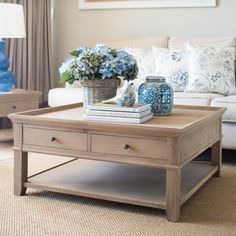 Oak Square Coffee Table - Coffee Tables - Living