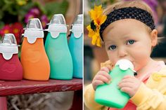 The Sili Squeeze is not a bottle - it is a reusable, silicone food pouch intended for homemade baby food and smoothies, in addition to ready-made favorites like yogurt and applesauce. The eco-friendly contemporary design suits any lifestyle and promotes a more economical approach to feeding your little one healthy, nutritious snacks and meals on-the-go!