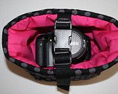 Digital Slr Camera Bag Dslr camera Bag insert Camera Coozy for purseTa Dot Pink with safety strap Small Size XcessRize Designs Too