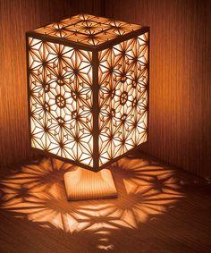 Japanese Lighting, Japanese Lamps, Handmade Furniture, Home Decor Furniture, Lamp Design, Wood Design, Laser Cutter Ideas, Laser Art, Bamboo Crafts