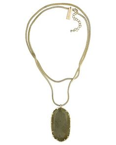 Donna Long Necklace in Brown Pyrite - Kendra Scott Jewelry. Available October 16, 2013.