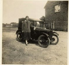 Alma Maria Susanna Leglar with car