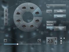 Web Elements ~ Weather UI Elements and Icons Bundle ~ Creative Market Page Design, Web Design, Weather Icons, Ui Elements, Wireframe, Ui Kit, Custom Design, Social Media, Templates