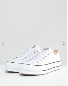 competitive price 82fb6 8b06c Zapatillas de deporte blancas con plataforma Ox Chuck Taylo All Star de  Converse at asos.com