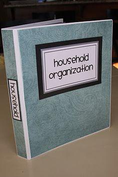 household organization binder