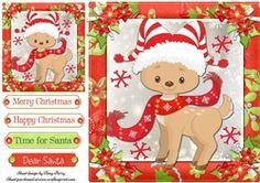 Gorgeous Reindeer In Santa Hat 8x8 on Craftsuprint - View Now!